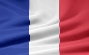 rippled French flag